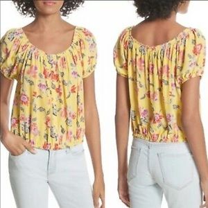 Joie Derfuta Off the Shoulder Floral Blouse